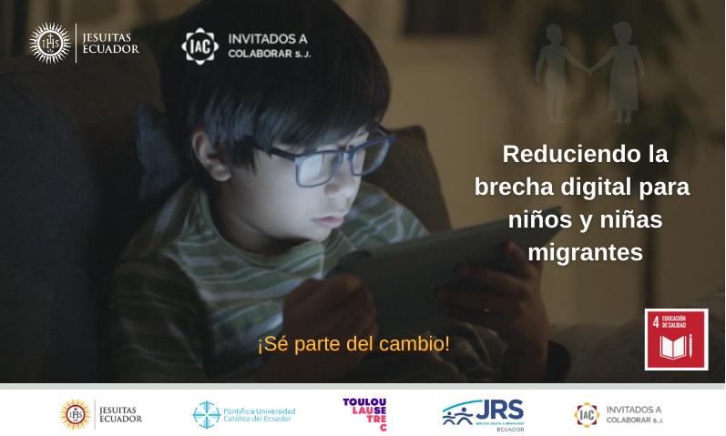 Reduciendo la brecha digital para  niños y niñas migrantes